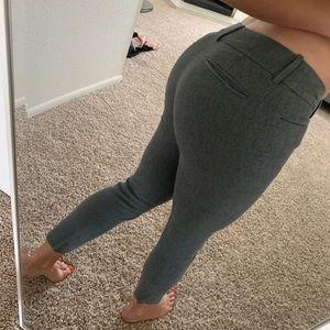Skinny gray dress pants